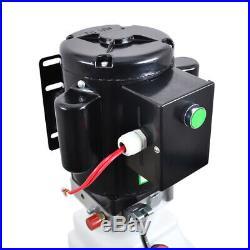 10L Single Acting Hydraulic Pump Dump Trailer 220V Power Unit Lift for Car NEW