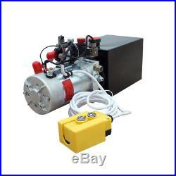 12 Volt 6 Quart Double Acting Hydraulic Pump Trailer Dump for Unloading, Crane