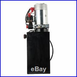 12 Volt Double Acting Hydraulic Pump for Dump Trailer 10 Quart Metal Reservoir