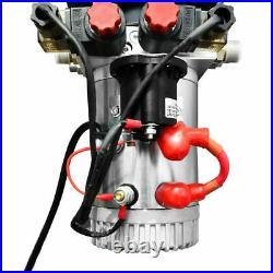 12 Volt Double Acting Hydraulic Pump for Dump Trailer 6 Quart Metal Reservoir