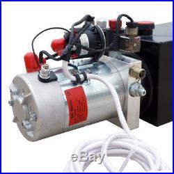 12 Volt Double Acting Hydraulic Pump for Dump Trailer 8 Quart Power Unit Crane