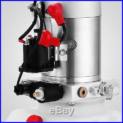 12 Volt Hydraulic Pump for Dump Trailer 4 Quart Poly Single Acting