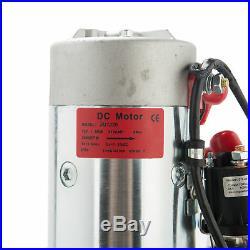 12 Volt Single Acting Hydraulic Pump for Dump Trailer 10 Quart Metal Reservoir