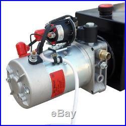 12V 6 Quart Remote Hydraulic Pump Power Unit Double Acting for Dump Trailer US