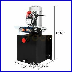 12V DC 8Qt / 8 L Double Acting Hydraulic Pump Dump Trailer for for Car Lifting