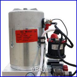 12V Double Acting Hydraulic Pump Power Unit for Dump Trailer- 6 Quart 3200 PSI