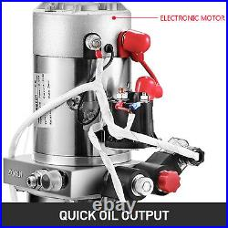 12V Hydraulic Pump for Dump Trailer -4 Quart- Double Acting and Unit Unloading