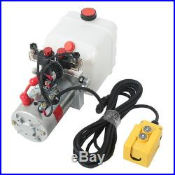 3 Quart DC12V Double Acting Hydraulic Pump Power Unit Supply for Dump Truck 2018