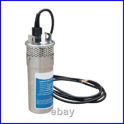 4 24V Solar Powered Deep Well Water Pump Submersible for Irrigation S/Steel
