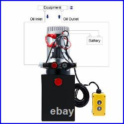 6 Quart 12V Double Acting Hydraulic Pump for Wheelchair Boat and Tailgate Lifts