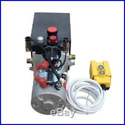 6 Quart DC12V Double Acting Hydraulic Pump Power Unit Supply For Dump Truck Lift