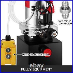 8 Quart Single Acting Hydraulic Pump for Unloading Reservoir 12 Volt Power Unit