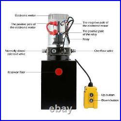 8 Quart Single Acting Hydraulic Pump for Unloading Reservoir Unloading 12 Volt