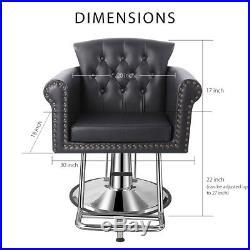 Baasha Square Salon Chairs For Hair Stylist Hydraulic Pump, Hair Salon Chair