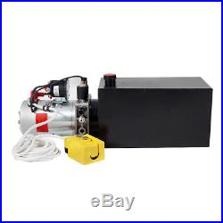 DC12V 10 Quart Tank Single Acting Hydraulic Pump Pack Power Unit for Car Lift