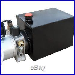 DC12V Hydraulic Pump Power Unit Single Acting 6 Quart SAE # 6 Port for Crane Lif
