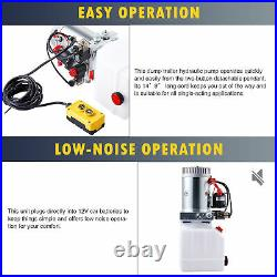 Double Acting 4 Quart 12V Hydraulic Pump for Tow Plow Woodsplitter Dump Bed More