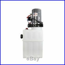 Double Acting Hydraulic Pump For Dump Trailers KTI 12VDC 13 Quart Reservoir
