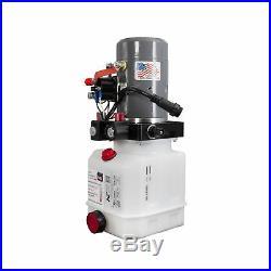 Double Acting Hydraulic Pump For Dump Trailers KTI 12VDC 3 Quart Reservoir