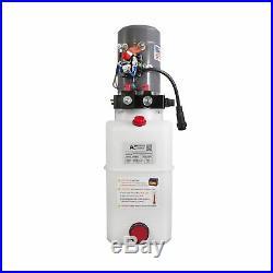 Double Acting Hydraulic Pump For Dump Trailers KTI 12VDC 6 Quart Reservoir