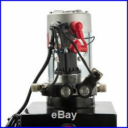 Double Acting Hydraulic Pump for Dump Trailers 12 VDC 15 Quart Metal Reservoir