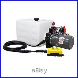Double Acting Hydraulic Pump for Dump Trailers KTI -12 VDC 13 Quart Reservoir