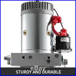 Dual Double Acting Hydraulic Pump for Dump Trailers 6 Quart 12 VDC