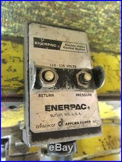 Enerpac Hydrualic Pump for Pipe Bender (Yellow) 110/115V. WHS-3-001