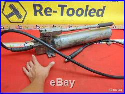 Enerpac P-84 Double Acting Hydraulic Hand Pump for Greenlee Bender 10,000 PSI
