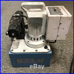 GAGE BILT Electric Portable Pump for Double Acting Cylinders withGBP Huck Gun