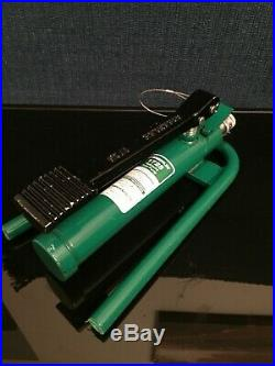 Greenlee 1725 Hydraulic Foot Pump For Benders Knockouts Punches Greenlee Enerpac