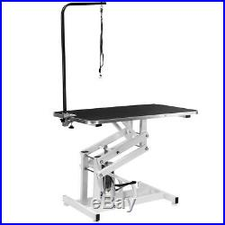 Hydraulic 42 x 24 Grooming Table for Dogs Non-Slip Table Adjustable Height