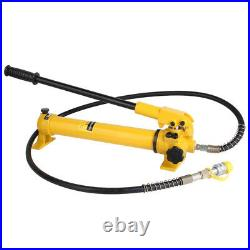 Hydraulic Hand Pump for 10 Ton Hydraulic Ram Cylinders Lightweight Max 10000PSI