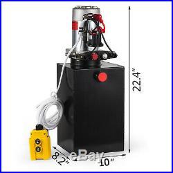 Hydraulic Power Unit 15Quart Pump Double Acting 12V DC for Dump Trailer Car Lift