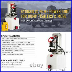 Hydraulic Pump 12V Single-Acting 4 Quart for Wood Splitter Dump Bed Tow Plowith