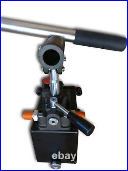 Hydraulic hand pump for double acting cylinder, closed center. 45cc/ 2.75in3