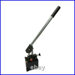 Hydraulic piston hand pump with release knob for single acting cylinder 1.5 CID