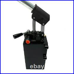 Hydraulic piston hand pump with valve for double acting cylinder 1.5 CID