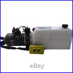 KTI Hydraulic Power Unit Double Acting 12v 8qt tank for dump trailers