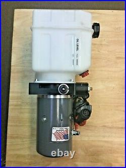 KTI Hydraulics DC-45254 Double Acting Pump for Dump Trailer 12VDC