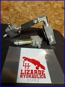 Lowrider Hydraulics Y Block hopper fitting setup, for single pump Parker