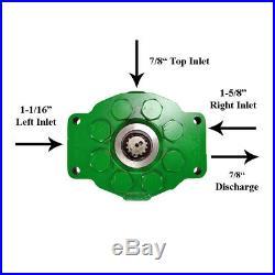 New Hydraulic Pump for John Deere 2950, 2955 AR39695, AR90459, AR97872