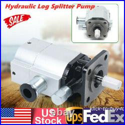 New Wood Hydraulic Log Splitter Pump 2 Stage Hi Lo Gear Pump For Logsplitter