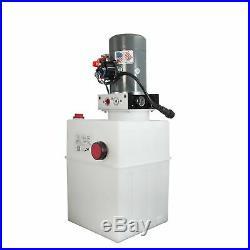 Single Acting Hydraulic Pump For Dump Trailers KTI 12VDC 13 Quart Reservoir