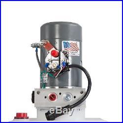 Single Acting Hydraulic Pump for Dump Trailers KTI 12 VDC 13 Qt Reservoir