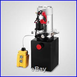 Single Acting Hydraulic Pump for Dump Trailers KTI 12 VDC 4 Quart Reservoir