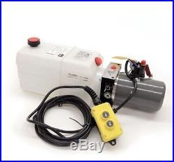 Single Acting Hydraulic Pump for Dump Trailers KTI 12 VDC 6 Quart Reservoir