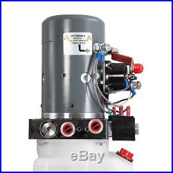 Single & Double Hydraulic Pump for Dump Trailers KTI 12 VDC with Reservoir