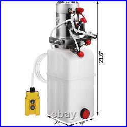 VEVOR 12 Volt Hydraulic Pump for Dump Trailer -6 Quart -Double Acting +Connector
