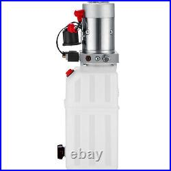 VEVOR Single Acting Hydraulic Pump for Dump Trailers 12VDC 6 Quart Reservoir